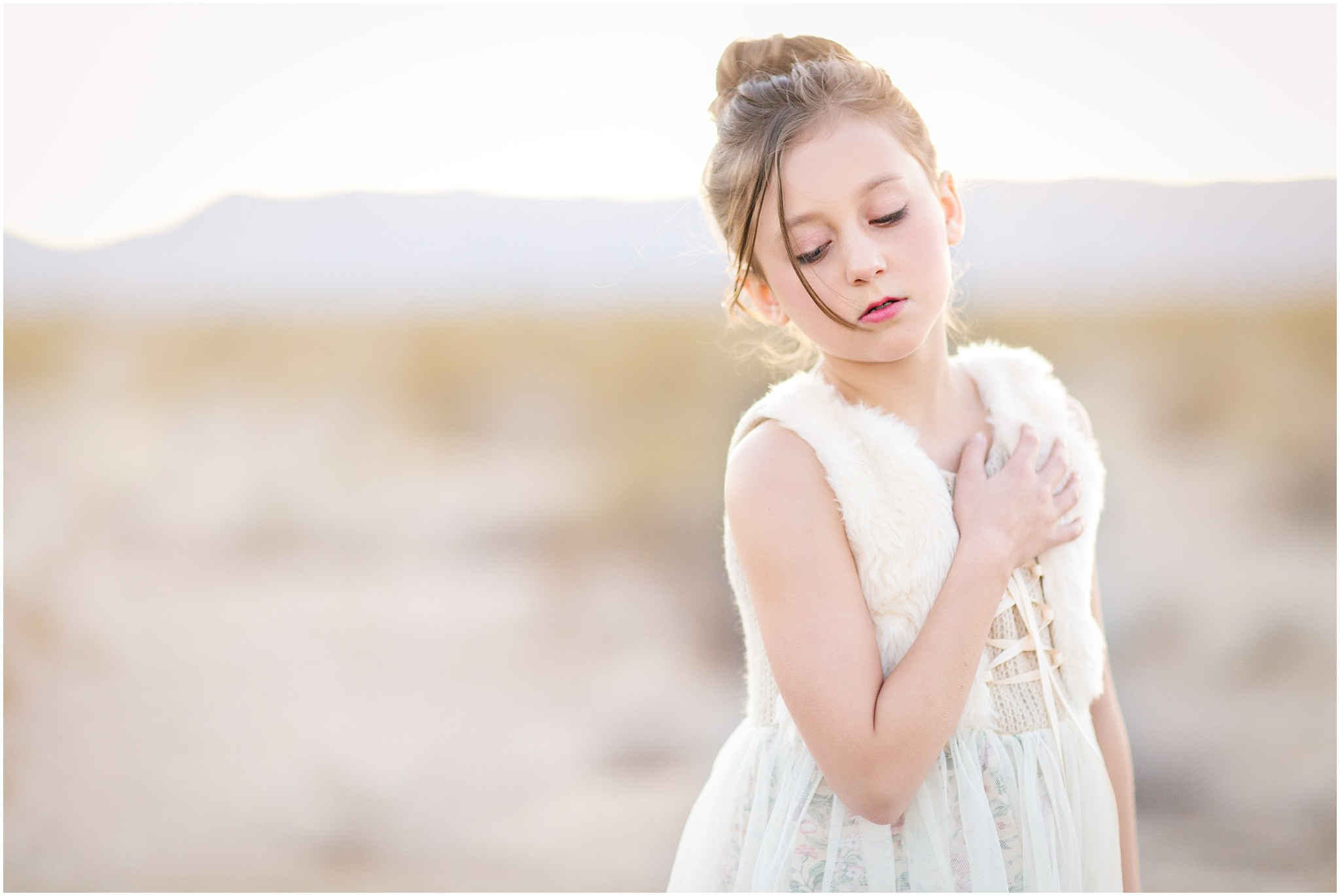Dreamy Tween Portraits At Las Vegas Dry Lake Beds San Francisco Bay Area Childrens