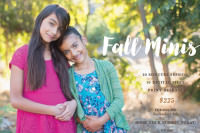 Fall Holiday Mini Session Flyer