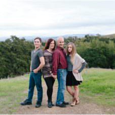 family picture in pleasanton