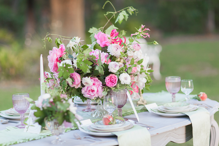 photograph of wedding flowers by oak and the owl