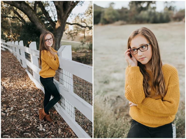 girl posing with glasses at alviso adobe park pleasanton