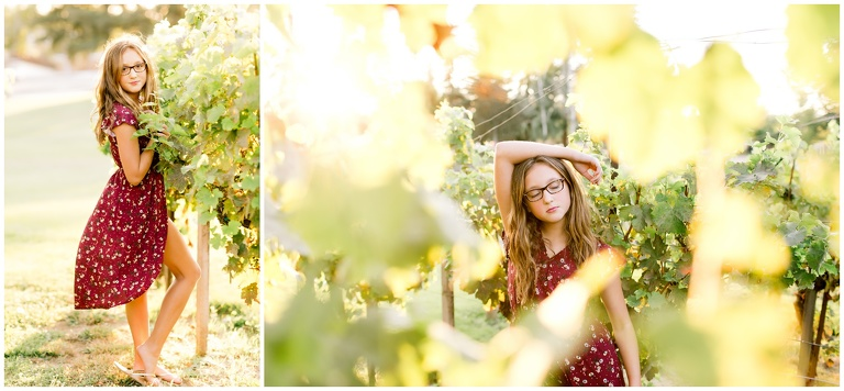 livermore teen portrait in vineyards