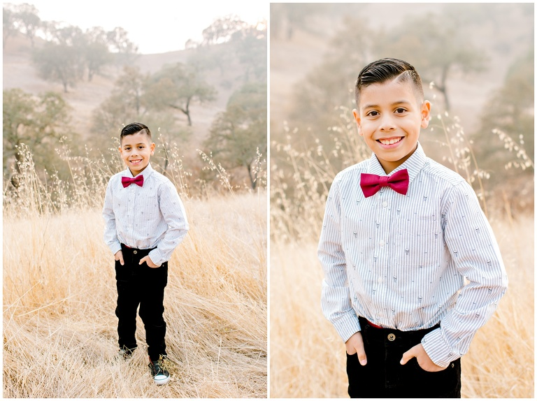 dressed up boy for fall portraits