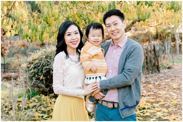 family portrait with yellow theme