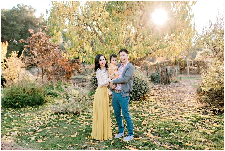 fall family portrait at crown canyon gardens