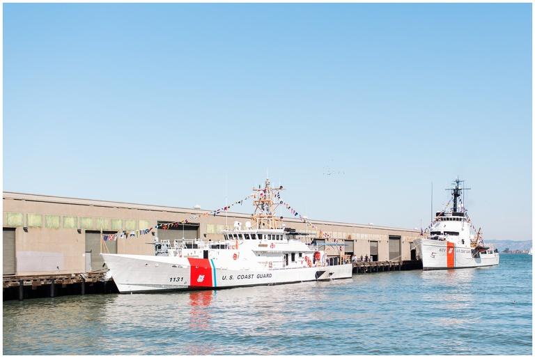 coast guard boat docked at sf pier
